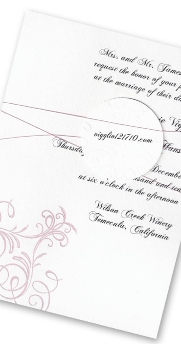 """Pink """"Tie The Knot"""" Announcements"""
