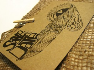 Kraft Paper Save The Dates